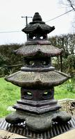 Weather Worn Tall Cast Pagoda Garden Ornament (2 of 8)