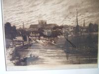 Walter W Burgess Etching of Exeter Dated 1888 (2 of 5)
