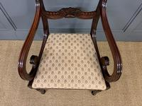 Excellent Pair of Regency Mahogany Scroll Armchairs (9 of 17)