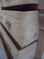 Art Nouveau Antique Pine 5 Drawer Chest of Drawers to Wax/Paint c1910 (5 of 11)