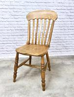 Set of 4 Golden Coloured Lathback Kitchen Chairs (5 of 5)