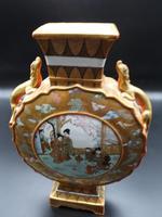 Late 19th Century Kutani Porcelain, Moon Shaped Vase (3 of 6)