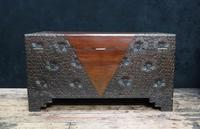 Early 20th Century Oriental Carved Teak and Camphor Wood Chest (9 of 11)