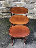 Antique Mahogany Nest of 3 Tables (4 of 7)