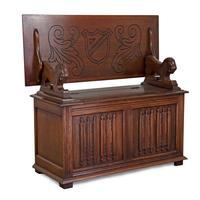 Jacobean Style Oak Monk's Bench (8 of 8)