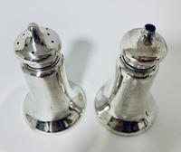 Pair of Antique Chester Silver Salt & Pepper Shakers (3 of 12)