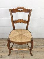 Set of Four Antique French Fruitwood Dining Chairs (4 of 9)