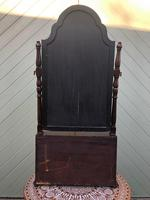 Antique Queen Anne Style Walnut Dressing Table Mirror (5 of 9)