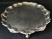Old Sheffield Plate Silver Plated Salver (4 of 5)