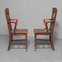 Rare Antique Set of 34 American Oak Chairs (7 of 15)