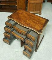 Antique Serpentine Front Walnut Desk (7 of 10)