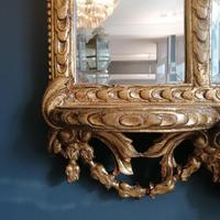 Antique Regency style triple fronted Giltwood Mirror with shelf (9 of 9)