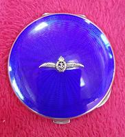 Silver & Enamelled Compact with Naval Sweetheart Badge (2 of 5)
