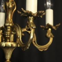 French Gilded Brass 4 Light Antique Chandelier (2 of 6)