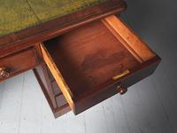 Victorian Mahogany Partners Desk with Green Leather Top (6 of 10)