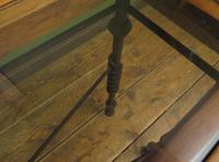 Wrought Iron & Wood Console Table with Glass Insert (4 of 14)