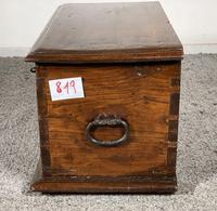Small Spanish Walnut Chest From The 17th Century, (8 of 8)