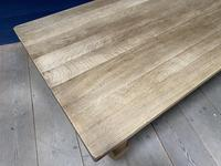 Good Looking Bleached Oak Farmhouse Dining Table (8 of 17)