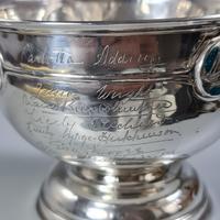 Rare Arts & Crafts Liberty & Co HM Silver & Enamel Cymric Bowl c.1905- Signed (6 of 14)