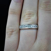 Vintage Diamond 18ct White Gold Half Eternity Band Ring (8 of 10)