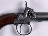 Mid 19th Century Percussion Boxlock Side Hammer Large Pocket Pistol (4 of 7)