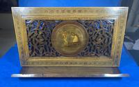 Victorian Italian Sorento Olivewood Book Stand with Micro Mosaic Inlay (12 of 23)