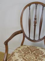 Mahogany Hepplewhite Style Armchair c.1920 (5 of 7)