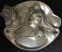 Art Nouveau Pewter Inkstand (4 of 5)