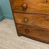 Victorian Country House Figured Mahogany Antique Chest of Drawers (2 of 6)
