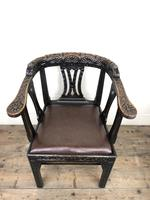 Victorian Carved Oak Gothic Armchair (M-1223) (5 of 12)