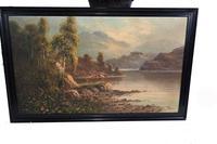 Pair of Romantic Oil Paintings English Landscape Barnstable Devon (6 of 9)