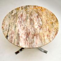 1960's Vintage Marble & Chrome Coffee Table (6 of 8)