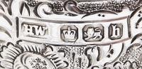 Set of 4 Antique Victorian Sterling Silver Napkin Rings in Case 1898 (3 of 11)