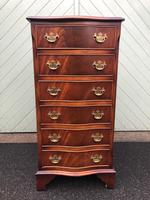 Serpentine Mahogany Slim Chest Drawers (3 of 8)