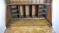 Arts & Crafts oak bureau bookcase (8 of 9)