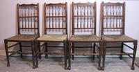 Set of Four Heals Antique Oak Country Cottage Dining Chairs
