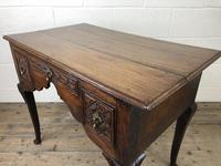 Antique 19th Century Carved Oak Lowboy Side Table (3 of 17)