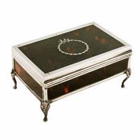 George V Silver & Tortoise Shell Box (5 of 8)