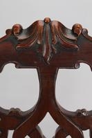 Edwardian Mahogany Chippendale Desk Chair (8 of 13)