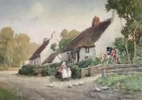 J.W.Miliken Pair of Watercolours 'Evening Ince Blundell & Afternoon Near Chipping, Camden' (2 of 5)