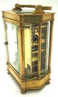 Rare & Unusual Cased Antique French 8-day Timepiece Carriage Clock c.1900 (8 of 10)