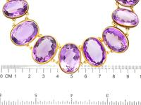 274.91ct Amethyst & 18ct Yellow Gold Rivière Necklace - Antique Victorian (9 of 12)
