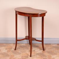 Edwardian Inlaid Mahogany Kidney Shape Occasional Table (8 of 15)