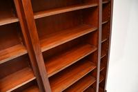 Antique Sheraton Style Inlaid Mahogany Open Bookcase (8 of 11)