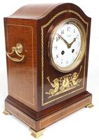 Incredible Solid Mahogany Cased Mantel Clock with Bone Inlay by James Weir (8 of 10)