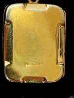 Art Deco 9ct Back & Front Gold Locket on Chain (10 of 10)