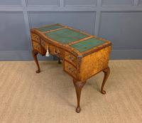 Good Queen Anne Style Burr Walnut Writing Desk (3 of 18)