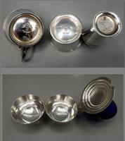 Keith Murray Art Deco Silver Plated Cruet  - Designed for Mappin & Webb (6 of 7)