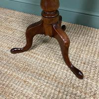 Quality Georgian Cuban Mahogany Antique Tilt Top Tripod Occasional / Lamp Table (3 of 7)
