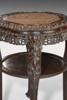 19th Century Chinese Hardwood  Two Tier Stool (3 of 6)